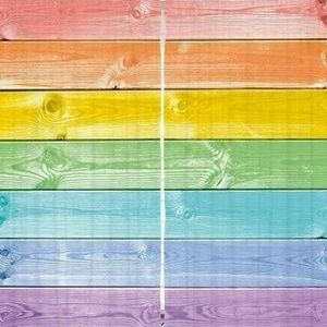 Curtains Rainbow Wooden Plank Print Backdrop 38081